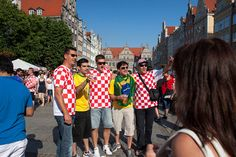Photo of Croatia & Spain football fans in Gdańsk during #Euro2012 by Krzysztoff, via Flickr