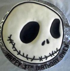 Jack Skellington Head Birthday Cake