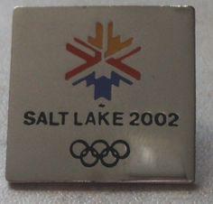 OLYMPIC GAMES PIN Salt Lake 2002 Olympics Square Snowflake Hat Pin Badge
