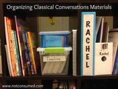 Organizing Classical Conversations materials: timeline cards, review cards, weekly assignments. 5 day series from www.notconsumed.com