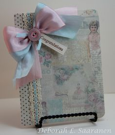 This beautiful baby card was made by Deb for The Stamp Simply Ribbon Store using product by Melissa Frances, JustRite and May Arts, all available at The Stamp Simply Ribbon Store.