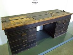 Registration table at Dachau Concentration Camp