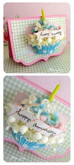 3D cupcake card - bjl