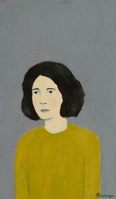 Edna - Original Little Portrait Painting by Elizabeth Bauman, 3 x 5 inches, via Etsy. #AmandaJaneJones