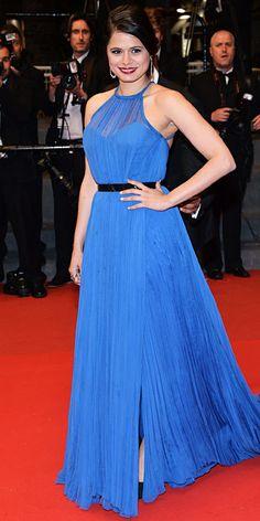 Melonie Diaz in royal blue Emilio Pucci in Cannes 2013