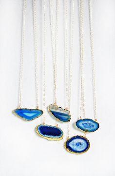 blue crystal necklaces.