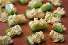 egg salad celery bites