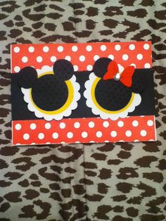 Mickey and Minnie Party Invitations set of by katieskreativekrafts, $25.00