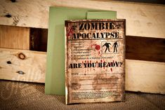 Zombie Invitation INSTANT DOWNLOAD Zombie by HelloMySweet