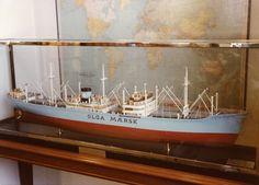 Scale model of Olga Mærsk (1949) as seen in Mr. A.P. Moller's office.