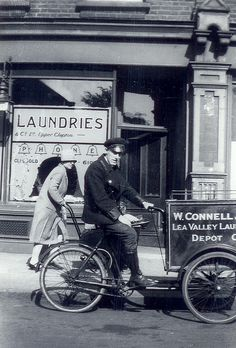 1933 Outside Connells Laundry, Hackney, London