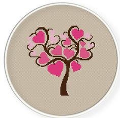 INSTANT DOWNLOAD,Free shipping,Counted Cross stitch pattern,Cross-Stitch PDF,Love tree,valentine's day, zxxc0174