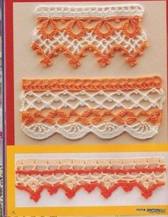 Edging crochet magazine - lots of charts for edging on this link