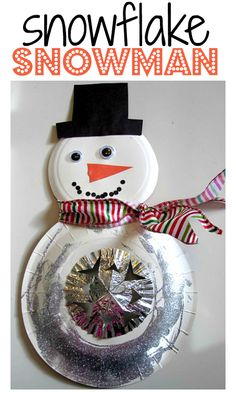 Such a pretty snowman craft!