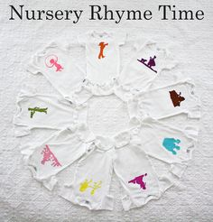 Nursery rhyme onesies