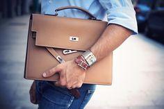 Hermes Kelly Depeche Briefcase.