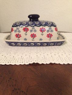 If you are looking for polish pottery this shop has a lot!!!!  Polish Pottery Butter Dish by MimisMiniMarketplace on Etsy, $20.00