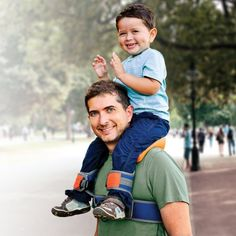 SaddleBaby – child Shoulder Carrier, Original  This is pure genius. if you ever carry your kids on your shoulders you know it isn't very comfortable in the long run. This is a child carry shoulder seat built like a saddle with security straps.  This is one smart gift for dad!