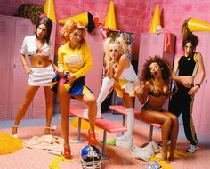 Spice Girls photographed by Mark Seliger for Rolling Stone, July 1995