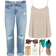 """""""1038. Simple Style"""" by chocolatepumma on Polyvore Clothes Casual Outift for • teens • movies • girls • women •. summer • fall • spring • winter • outfit ideas • dates • school • parties Polyvore :) Catalina Christiano summer styles, boyfriend jeans, simple party outfit, casual summer, school parties, summer outfits, winter outfits, casual outfits, spring outfits"""