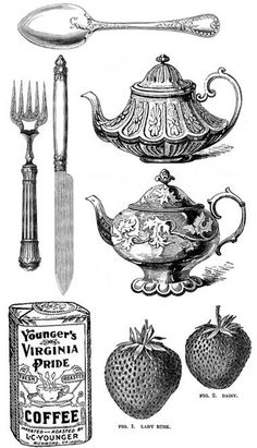 Free vintage kitchen motif printables. So cute!