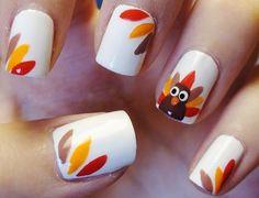 DIY Thanksgiving Autumn Fall Nail Art
