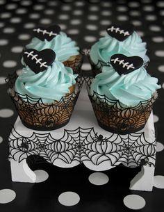 Cupcakes Halloween. Naranja y cointreau y receta de merengue italiano