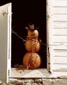 fall decor - scarecrow pumpkin