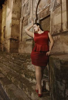 Gorgeous Red Sleeveless Dress Big beautiful real women with curves fashion accept your body plus size body conscientiousness