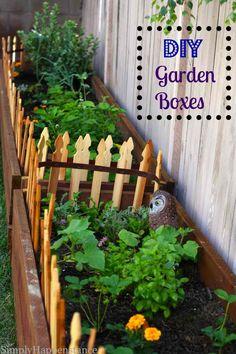 Cute DIY Garden Boxes