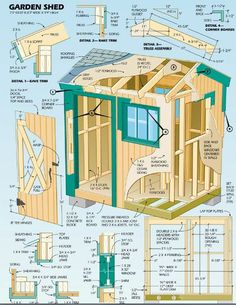 Woodworking plan for garden shed.
