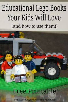 Educational Lego Books Your Kids Will Love -- and a Free Printable with ideas on how to use them in your homeschool! Includes free handwriting/notebooking pages! from #HSencouragement #Homeschool