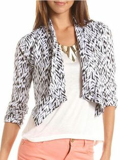 A cute cropped jacket can update your summer wardrobe!