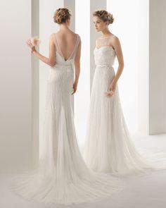 Colección Soft de vestidos de novia de Rosa Clará 2014  #boda #vestidos #novias