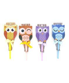 owl notepad & pen set