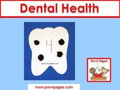 Ideas for teaching a dental health theme in your preschool or kindergarten classroom.