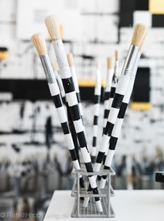 striped brushes | via tenka gammelgaard