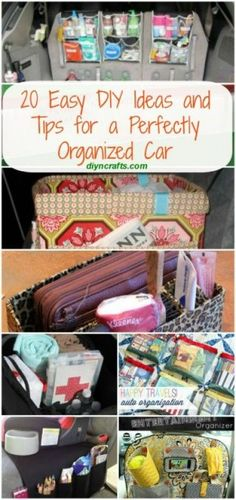 20 Easy DIY Ideas and Tips for a Perfectly Organized Car {Organizing}