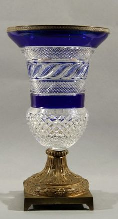 ANTIQUE RUSSIAN CUT GLASS VASE 19TH C.