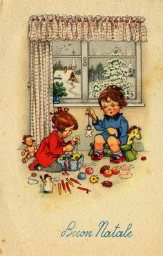Miss Jane - Vintage Christmas Card
