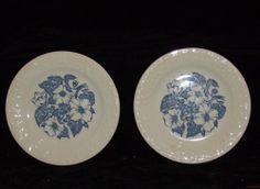 2 - Vintage Homer Laughlin WILD ROSE Bread & Butter Plates - 1950's Quaker Oats  #HomerLaughlin