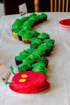 There are some wonderful ideas for a party with the theme The Very Hungry Caterpillar. I especially love the cake!