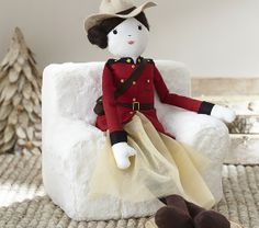 maple the mountie doll. pottery barn kids. mapl, design doll, barn kid, intern design, barns, kid stuff, pottery barn