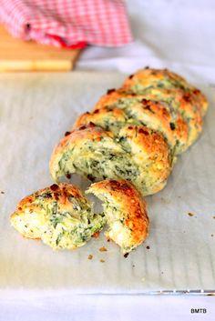 Spinach and Feta Braid Bread