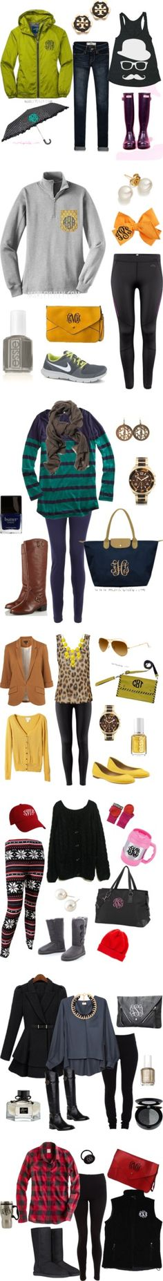 obsessed. Adorable outfits. Monograms