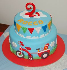 clouds, boy cakes, 2 year olds, 2nd birthday cake boy, kid birthday cakes, kid birthdays, boy cake with bunting, 2nd birthday cakes for boys, little boys