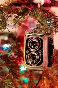 Photo of vintage Rolleiflex camera ornament