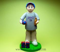 NY Giants Football Fan Forty Birthday Cake Topper by missnatch.etsy.com