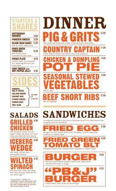 West Egg Cafe menu - love the bold, simple, effective look of this! menu design, graphic, west egg, cafe menus, restaurant, egg cafe
