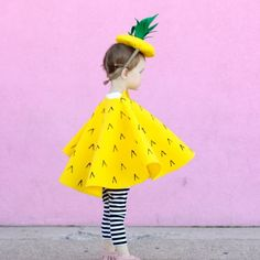 Super easy, no sew pineapple hat and cape costume!